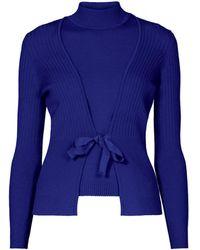 Rumour London Erika And Erin Indigo Two-piece Merino Wool Set - Blue