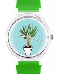 May28th - 05:51pm Green Watch With Plants - Lyst