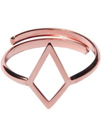 Dutch Basics - Ruit Adjustable Knuckle Ring Rose Gold - Lyst