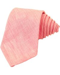 40 Colori Pink Solid Linen Tie