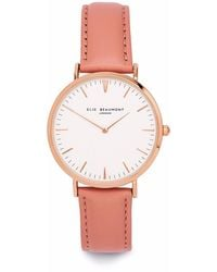 Elie Beaumont Oxford Small Light Pink Nappa Leather