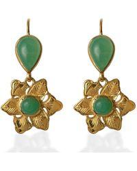 Emma Chapman Jewels Violetta Chrysoprase Earrings - Green