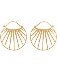 Carousel Jewels - Gold Sunbeam Hoops - Lyst