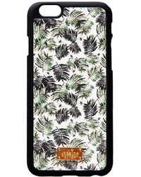 Jessica Russell Flint - Leather Coated Iphone6 Case Palm & Dragonflies - Lyst