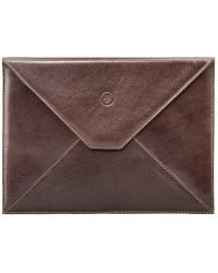 Maxwell Scott Bags - Luxury Tan Brown Leather Ipad Envelope Case Ettore - Lyst