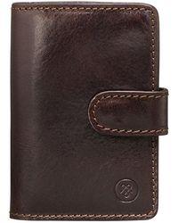 Maxwell Scott Bags - Brown Leather Mini Pocket Agenda Alvito - Lyst