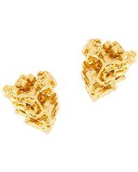 Coup de Coeur London Gold Vortex Stud Earrings - Metallic