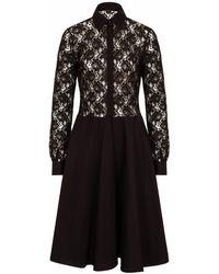 Sophie Cameron Davies Black Lace Midi Dress