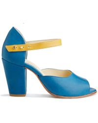 NINE TO FIVE - Ankle Pump Coline Blue Gold - Lyst