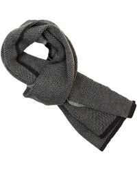 40 Colori - Charcoal Three Designs Wool Scarf - Lyst