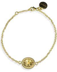 Vintouch Italy Luccichio Gold Vermeil Citrine Bracelet - Multicolour