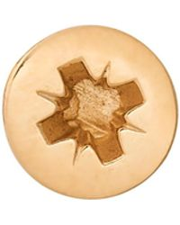 Edge Only Phillips-head Screw Lapel Pin Gold - Metallic
