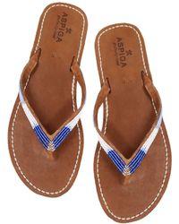 Aspiga Naisha Soft Padded Sole Leather Sandals | Blue Metallics