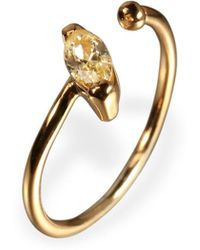 Ona Chan Jewelry - Little Jewels Open Ring Marquis Yellow & Gold - Lyst