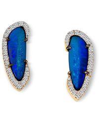 Elham & Issa Jewellery - Amwaj Earrings With Opal & Diamonds - Lyst