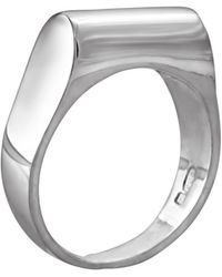 Edge Only High Top Ring Silver - Metallic