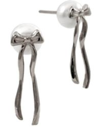 MARIE JUNE Jewelry - Presents Pearl Silver Earrings - Lyst