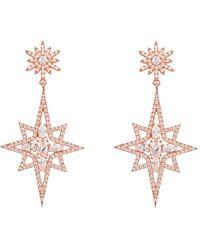 LÁTELITA London Northern Star Burst Drop Earring Rosegold - Multicolour