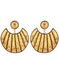 Carousel Jewels Heritage Gold & Crystal Statement Earrings - Metallic