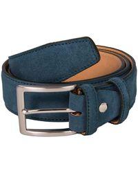 40 Colori Petrol Blue Trento Leather Belt