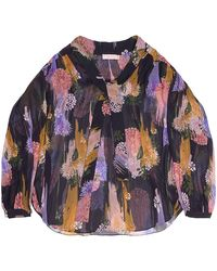 TOMCSANYI Greta Gloomy Flower Print Sheer Blouse - Multicolor