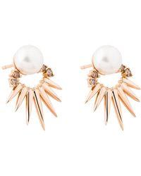Joana Salazar - Spike Pearl Earrings - Lyst