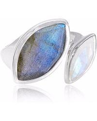 Neola - Celestine Sterling Silver Ring Moonstone - Lyst