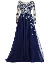 MATSOUR'I - Haute Couture Gown Charleen Blue - Lyst