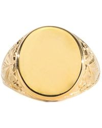 Serge Denimes Gold Plated Silver Thistle Ring - Metallic