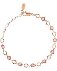 LÁTELITA London Milan Link Gemstone Bracelet Rose Gold Pink Tourmaline