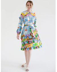 Jessie Zhao New York Summer Dress - Blue