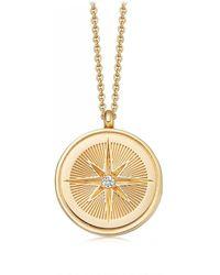 Astley Clarke Celestial Compass Locket Necklace - Metallic