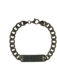 Cosanuova Sterling Silver Essential All Black Id Bracelet