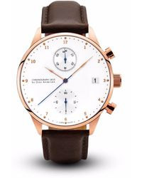 About Vintage - 1815 Chronograph Rose Gold Dark Brown Strap - Lyst