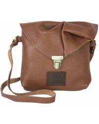 N'damus London - Emily Rose Mini Tan Leather Crossbody Bag - Lyst