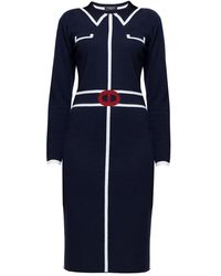 Rumour London Claire Midnight Blue Jacquard Dress