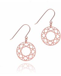 Myia Bonner - Rose Gold Brilliant Diamond Drop Earring - Lyst