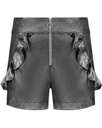 blonde gone rogue Cosmic Illusions High-waisted Festival Shorts - Metallic