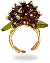 Annele Good Girl Gone Wildflower Ring - Multicolour