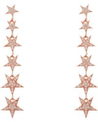 LÁTELITA London - Graduated Star Drop Earring Rosegold - Lyst