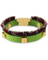 Tissuville - Flik Mini Bracelet Green Gold - Lyst