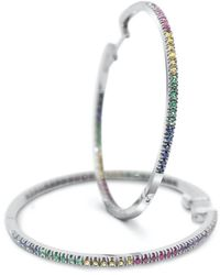 Cristina Cipolli Jewellery Rainbow Large Hoops - White