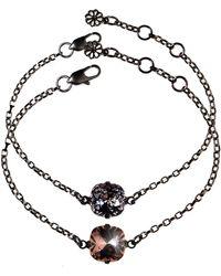 Nadia Minkoff Stacking Duo Bracelets Rose & Black Patina - Multicolor
