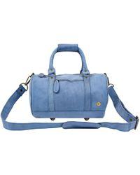 MAHI - Mini Duffle Handbag In Pastel Blue Suede - Lyst