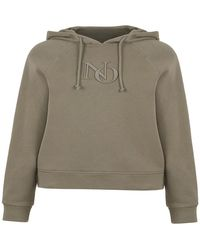 Nocturne Hooded Embroidered Sweatshirt - Green