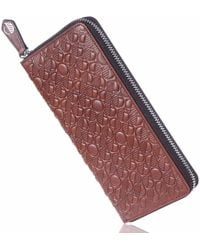 Drew Lennox - Luxury English Leather Ladies 12 Card Zip Around Purse & Wallet In Rich Brown - Lyst