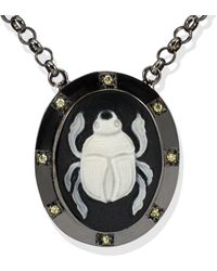 Vintouch Italy - Scarab Cameo Necklace - Lyst