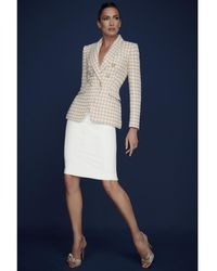 The Extreme Collection Pink Houndstooth Blazer Toscana