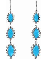 Meghna Jewels | Turquoise & Diamonds | Lyst