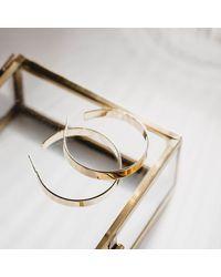 Matthew Calvin Large Basic Hoops In Gold - Metallic